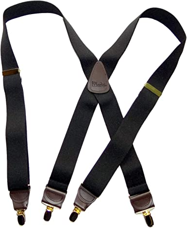 """Many Colors,Sizes MADE IN USA X  Style 1 1//2/"""" or 2/"""" BELT LOOP MEN/'S SUSPENDERS"""