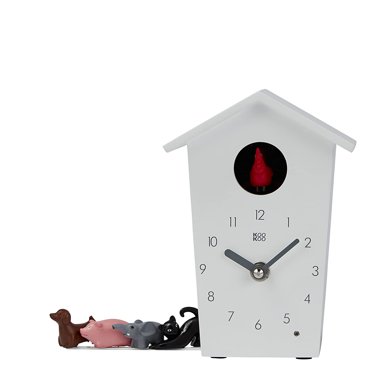 a7a189e3a KOOKOO BirdHouse mini blanco, cuckoo clock, reloj de pared con 12 aves  sonidos grabación natural o el cuco ...