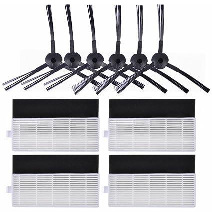 KEEPOW Kit de 10 pcs Repuestos para ILIFE A4s, A6, A4 Robot Aspirador,