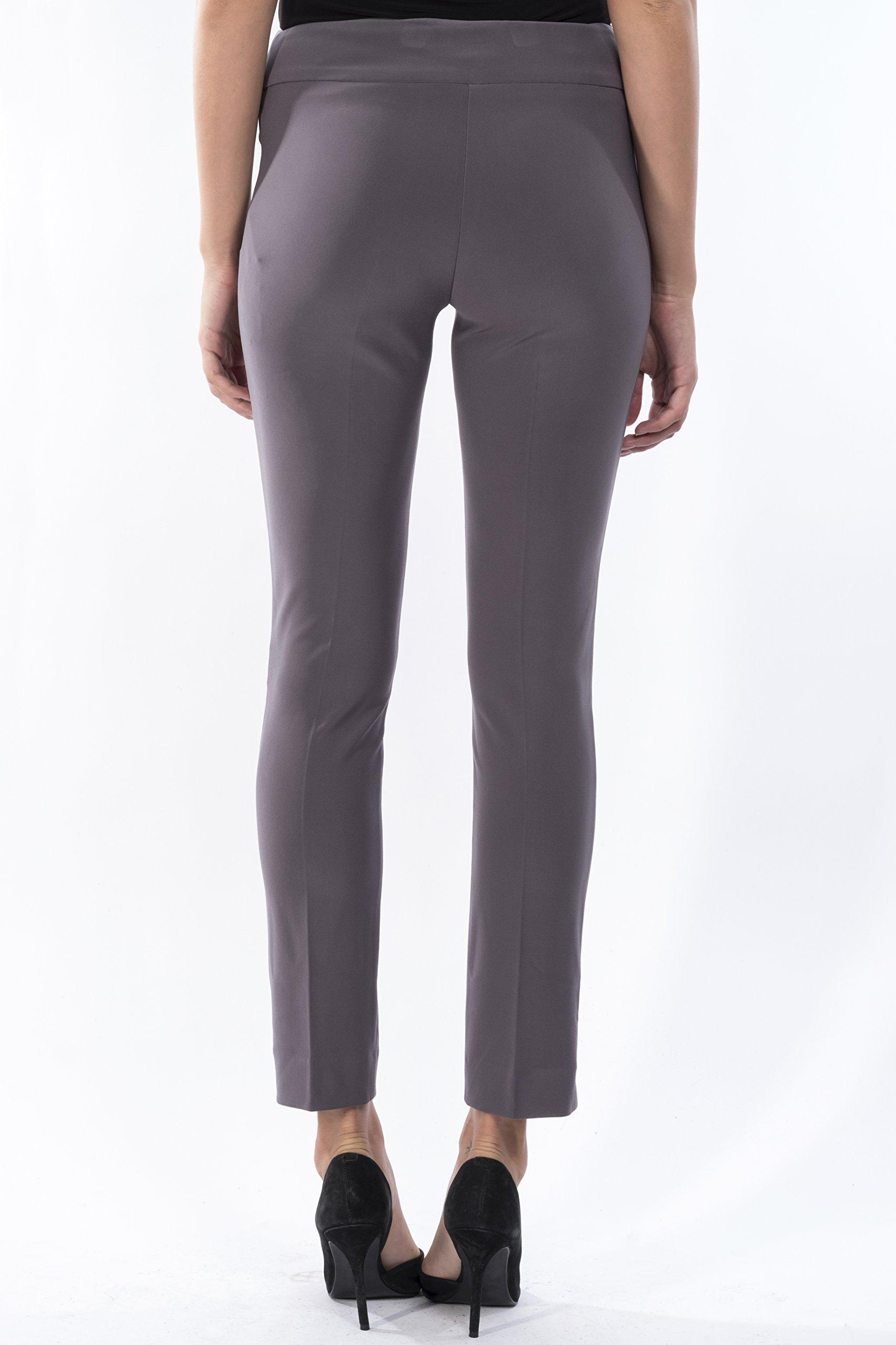 Joseph Ribkoff Ankle Length Wide Waistband Tailored Pant Zipperless - Style 144092 - Size 18 by Joseph Ribkoff (Image #3)