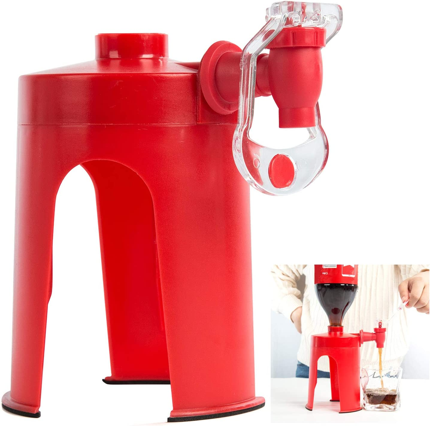 Beverage Dispenser/Drink Dispenser for Carbonated Drinks/Coca Cola/Sprite, Party Drink Dispenser/Drink Tool Mini Upside Down Drinking Fountains