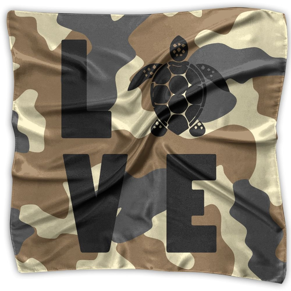 LOVE TURTLE Men Women Silky Scarf Scarf Shawl Bandana Scarves Set