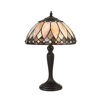 Brooklyn Pequeña lámpara de mesa de estilo Tiffany - Interiores ...