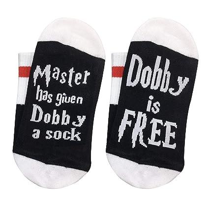 HYDZ® Dobby es Gratis, Master ha Dado a Dobby un Calcetines Divertidos para Tejer