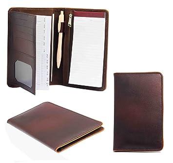 RD - Agenda de piel con Pen Pad soporte de tarjeta Teléfono ...