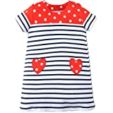 Amazon Price History for:BEILEI CREATIONS Little Girls Dress Cartoon Cotton Kids Summer Dress Crew-Neck