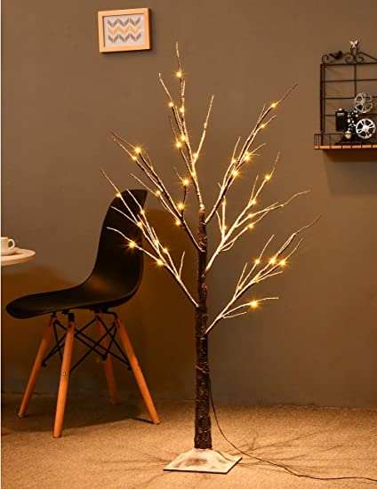 bolylight 4ft lighted snow tree led christmas decorations for homebedroomparty outdoor