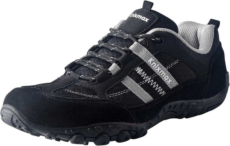 Knixmax - Zapatillas de Senderismo para Mujer y Hombre, Zapatillas de Montaña Trekking Trail Ligeros Cómodos y Transpirables Zapatillas de Seguridad Low-Top Antideslizante de Deporte, EU36-46