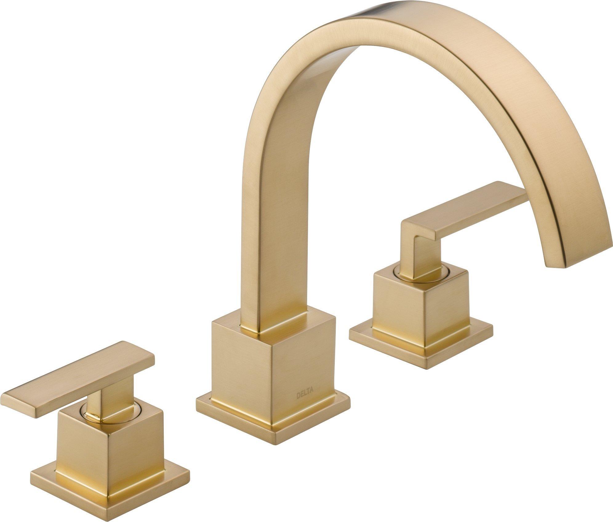 Delta Faucet T2753-CZ Vero Roman Tub Trim, Champagne Bronze by DELTA FAUCET