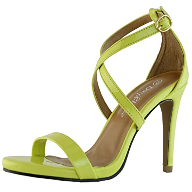 DailyShoes Women's Platform High Heel Sexy Sandal Open Toe Ankle Adjustable  Buckle Cross Strap Pump Evening