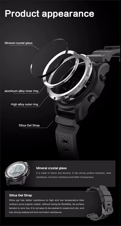 Amazon.com: Smart Watch Men GPS Fitness Tracker Wristwatch ...