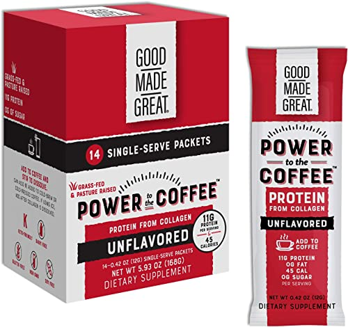 Collagen Protein Coffee Mix-in 12g Grass-Fed Pure Protein – Keto Paleo Friendly – NO Dairy, Whey, or Soy – Unsweetened
