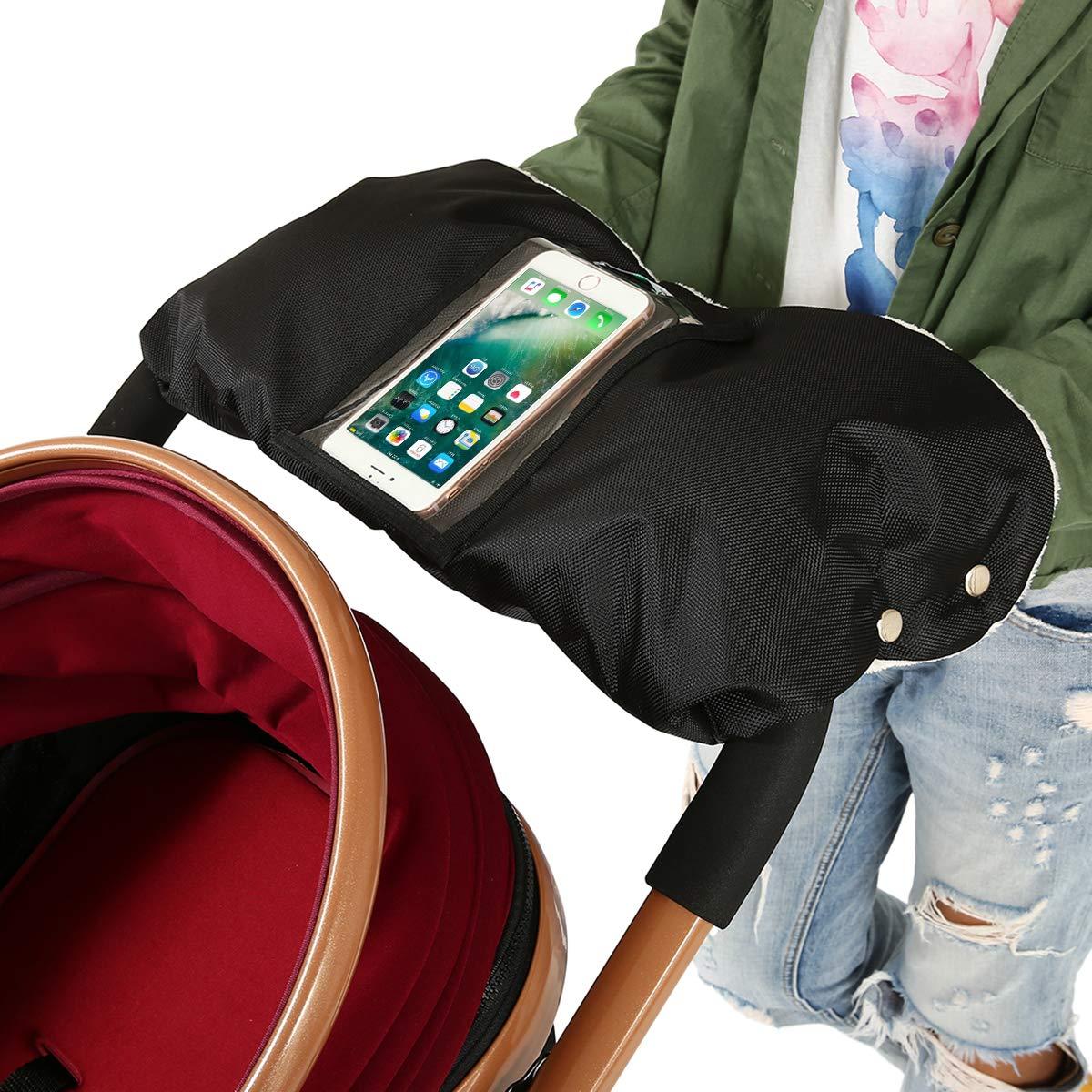 Guantes de cochecito, MIGICSHOW Winter protege guantes de manos calientes