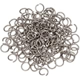 Craftdady 1000Pcs Stainless Steel Open Jump Rings 5mm Round 0.8mm Thick Tiny Connector Rings for Jewelry Making