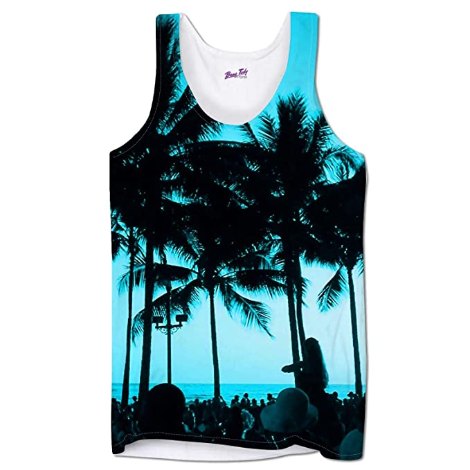 eb117b1e065277 Holiday Vests for Men Beach Party Summer Clothing Tank Tops Gym Beach Wear   Amazon.co.uk  Clothing
