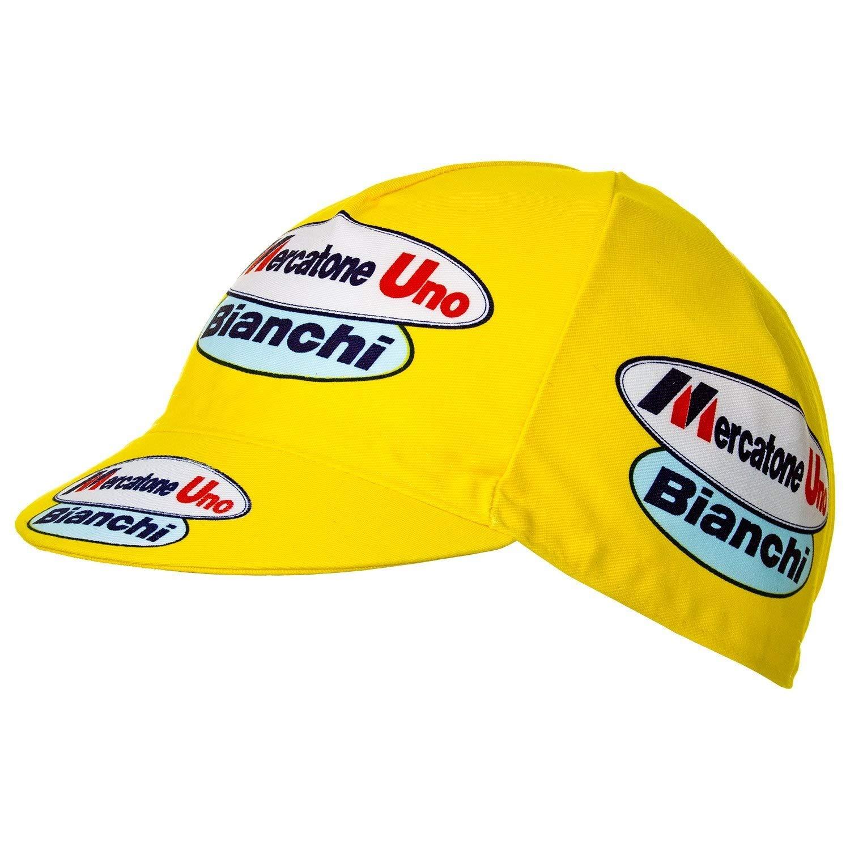 Mercatone Uno Bianchi Marco Pantani サイクリングキャップ イエロー   B07P8L5MFF