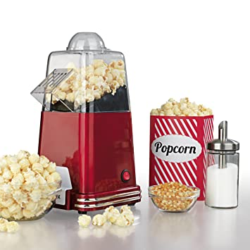 Gourmet Maxx cafetera Popcorn 1100 W en diseño retro nostalgia (Préparation par circulación del aire