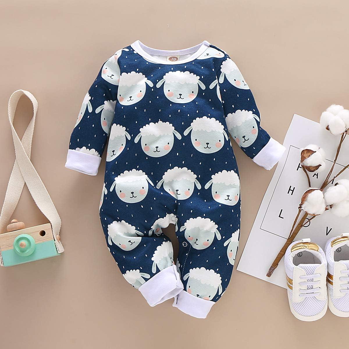 niedliches Schaf Jumpsuit Outfits f/ür 0-18 Monate Strampler f/ür Neugeborene Einteiler Babys