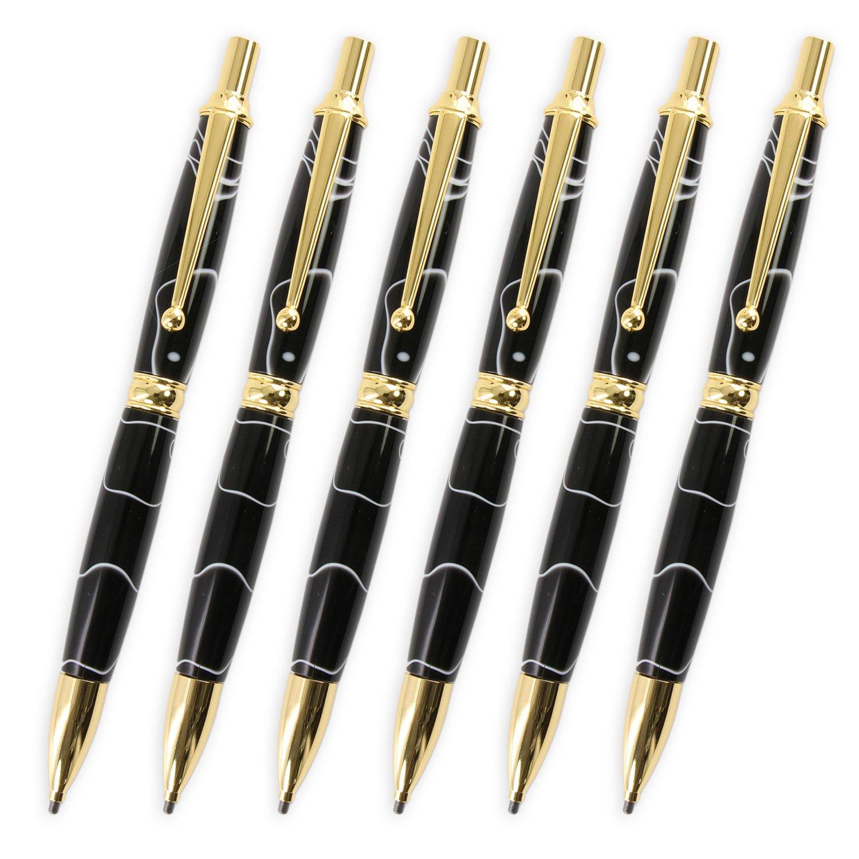 Legacy Woodturning, Power Pencil Kit, 6 Packs, Choose Your Finish