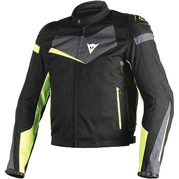 Dainese Veloster Textile Jacket (BLACK/EBONY/FLUORESCENT YELLOW)