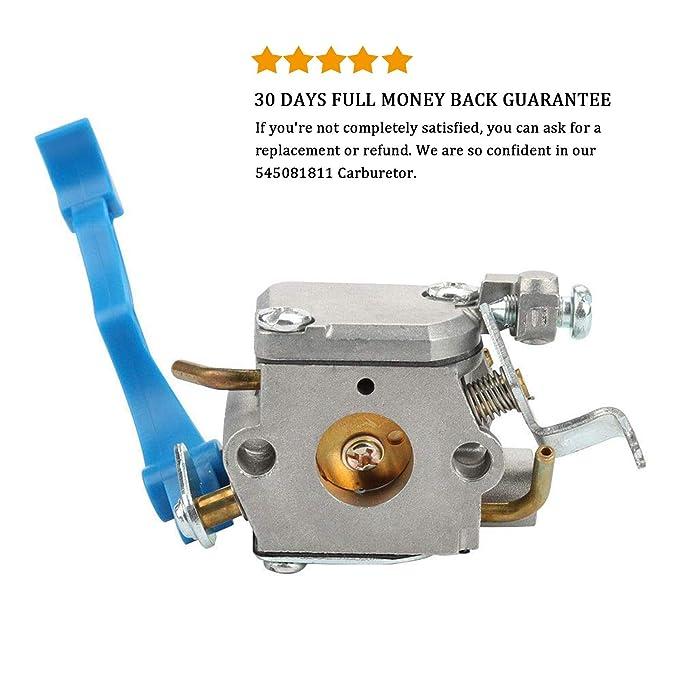 Amazon.com: podoy 125B Carburador para Husqvarna de hojas ...