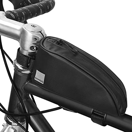 Nobody know Sahoo Travel Series 122051 Water Resistant Cycling Bike Top Tube Bag Bicycle Front Frame Bag Pannier Pouch Carrier Pack