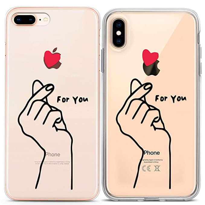 Lex Altern iPhone Cute Case Xs Max Xr X 10 8 Plus 7 6s 6 SE 5s 5 Korean  Finger Heart Apple Soft Clear for You Silicone Phone Love Gift Cover TPU