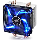 DEEPCOOL GAMMAXX 400 CPU Air Cooler with 4 Heatpipes, 120mm PWM Fan and Blue LED for Intel/AMD CPUs(AM4 Compatible) …