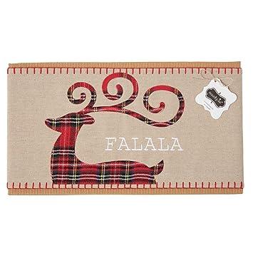 mud pie christmas home decor tartan pillow wrap reindeer - Mud Pie Christmas Home Decor