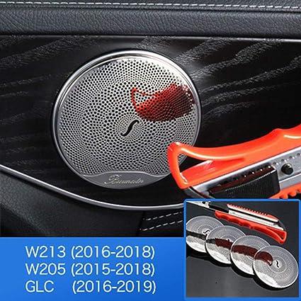 Daetng Car Styling Zubehör Innenverkleidung Mercedes Benz W205 W213 Glc Amg Zubehör Für Mercedes Glc Benz W205 W213 Innenverkleidung Tür Audio Lautsprecherabdeckung Gloss Küche Haushalt