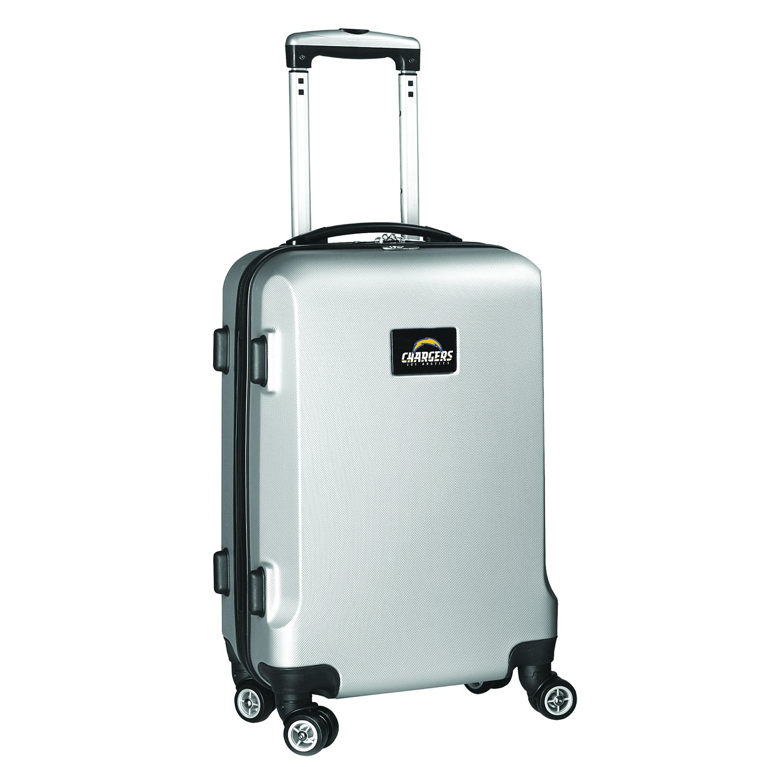 NFL Los Angeles Chargers Carry-On Hardcase Spinner, Silver by Denco