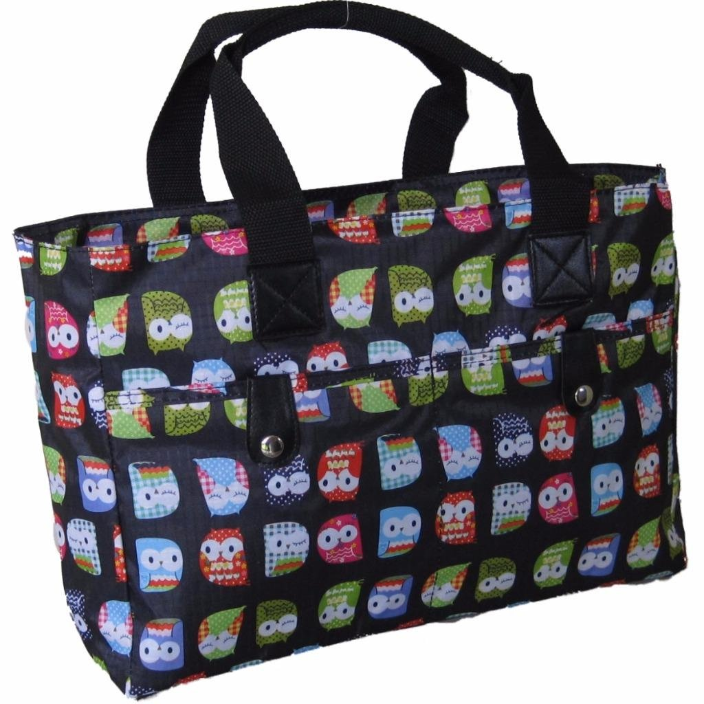 Very strong and wipe cleanable, Black /& White Dots Knitting Bag//Beach Bag//Handbag