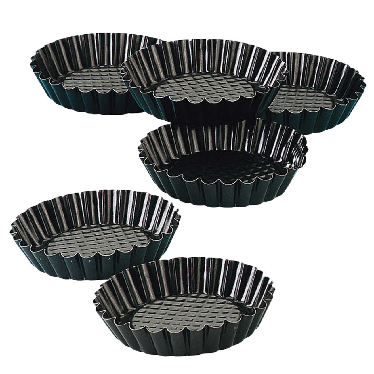 Zenker Non-Stick Mini Tart Pans, 4-Inch, Set of 6