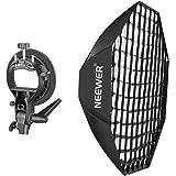 Neewer ポータブルビーハイブ八角形スピードライトソフトボックス S-型ブラケットホルダー Bowensマウント付 Nikon、Canon、Sony、Pentax、Olympus、Panasonic Lumixフラッシュ/スピードライト スタジオ撮影用
