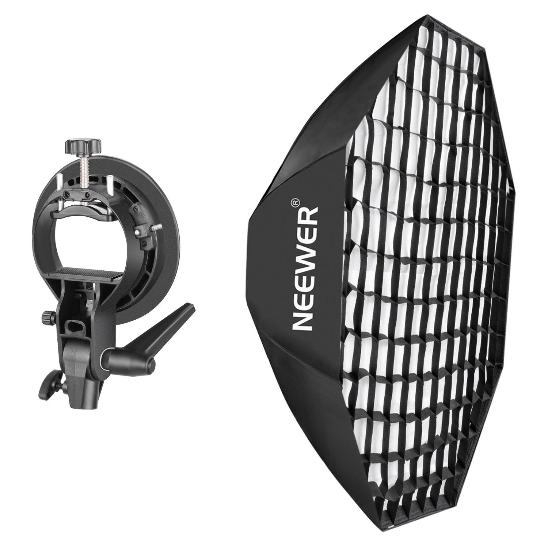 Neewer Portable Beehive Octagon Speedlite Softbox and S-Type Bracket Holder Kit for Nikon, Canon, Sony, Pentax, Olympus, Panasonic Lumix Flash Speedlite Studio Shooting with Bowens Mount