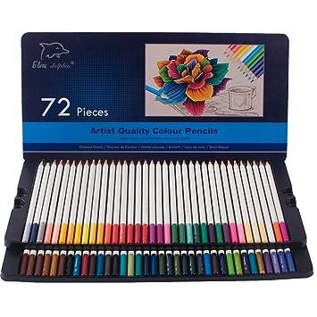 Lápices de colores 72-Pack con estuche de lata, material de ...