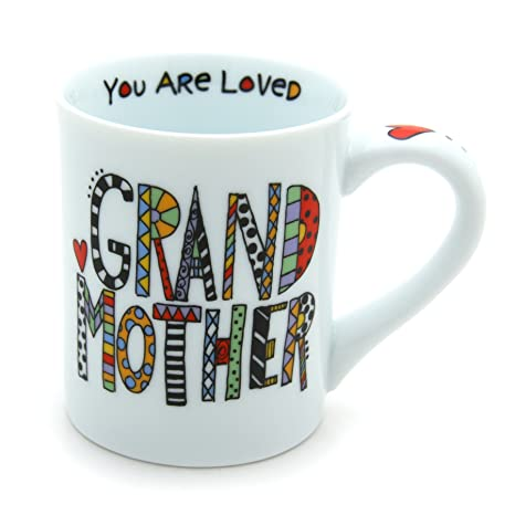 "a1117a13d00 Amazon.com: Our Name is Mud ""Loved Grandmother"" Porcelain Mug, 16 oz ..."