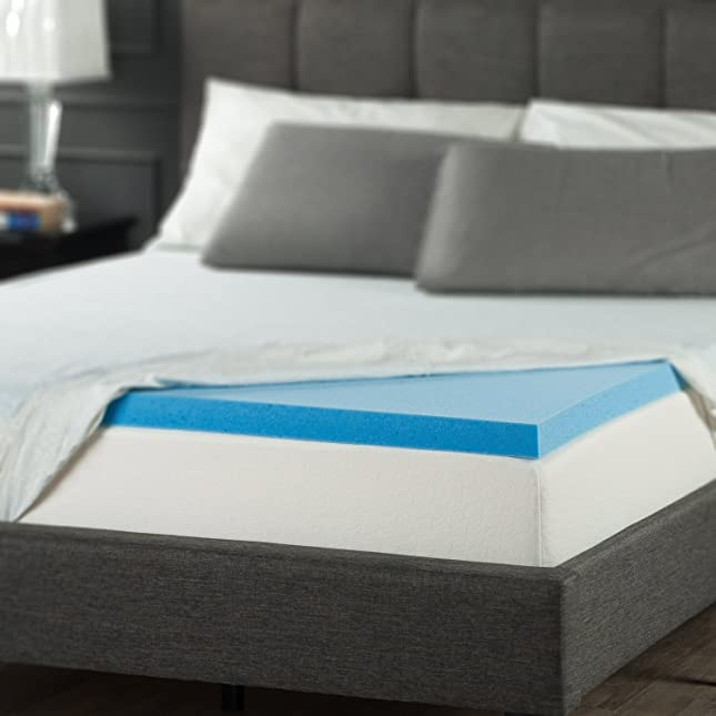 Sleep Master Gel Memory Foam 2 Inch Topper, Full
