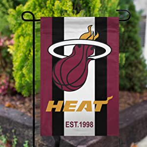 Stockdale Miami Heat Fans Garden Flag Outdoor Decor for Homes Courtyard Lawn Patio 12''x18''