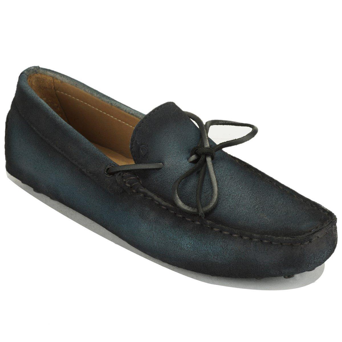 Scottwilliams Amati Premium Herren Bootsschuhe  P39|Marineblau