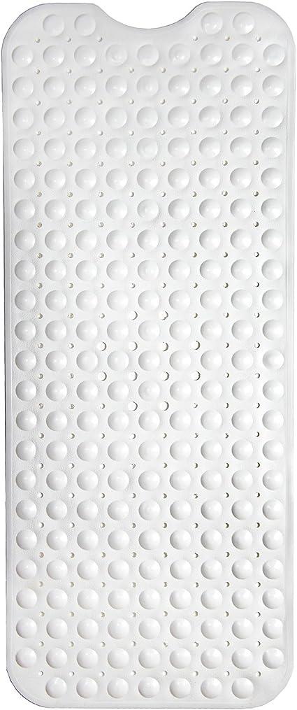 tappetino per doccia con ventosa Yisun per drenaggio rapido antimuffa colore blu grigio. tappetino antiscivolo per vasca da bagno e doccia