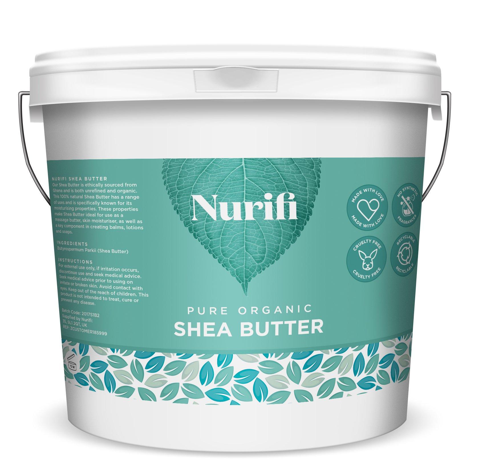 1KG Organic Shea Butter Unrefined - 100% Pure, Raw & Natural - Soil Association Certified - by Nurifi