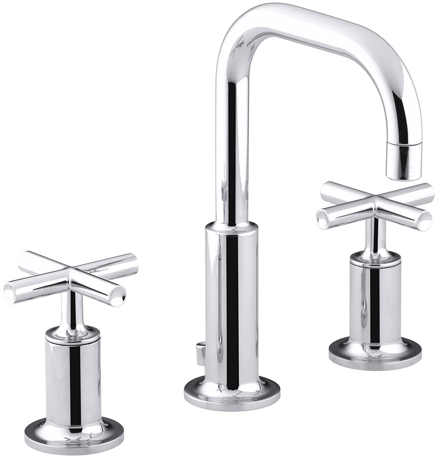 KOHLER K-14406-3-CP Purist Widespread Lavatory Faucet with Low ...