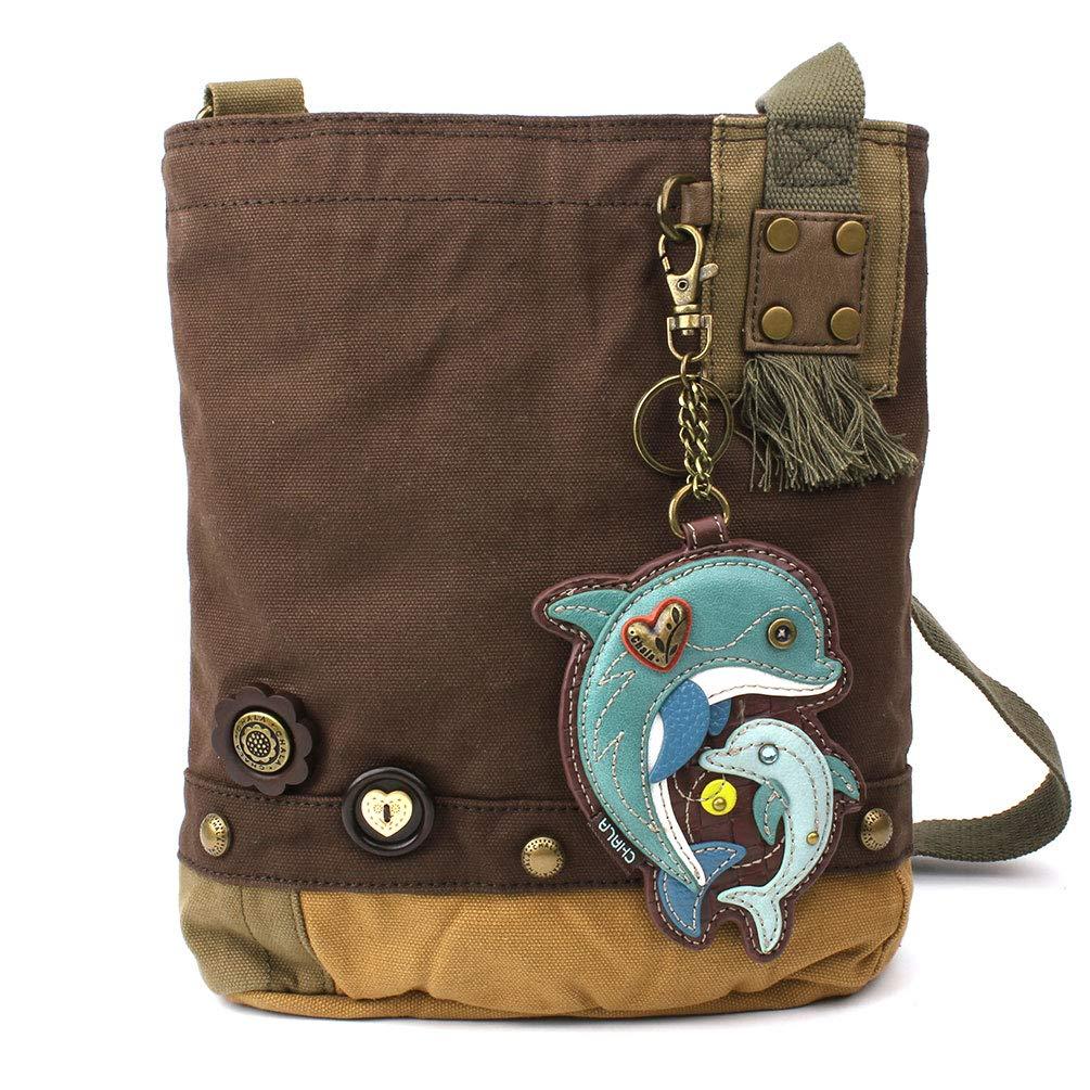 Dolphin Darkbrown Chala Patch CrossBody Women Handbag Dark Brown