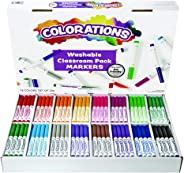 Colorations Washable Classic Markers Classroom Pack - Set of 256 (Item # 982561)