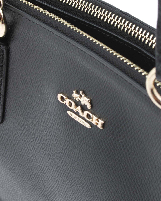COACH Crossgrain Leather Christie Carryall Shoulder Bag Handbag Black 36606 by Coach (Image #5)