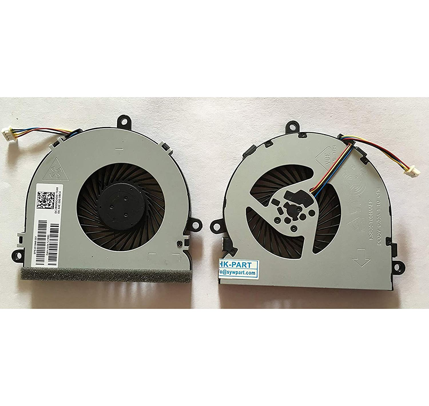 SYW/·pcparts Replacement CPU Cooling Fan Compatible HP Pavilion TPN-C125 TPN-C126 TPN-C130 HQ-TRE HP 250 G6 255 G6 Series 4-Pin SPS 813946-001