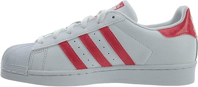 adidas C77154 - Botines de Cuero para Chico, Color Blanco, Talla Medium Niño Grande: Amazon.es: Zapatos y complementos