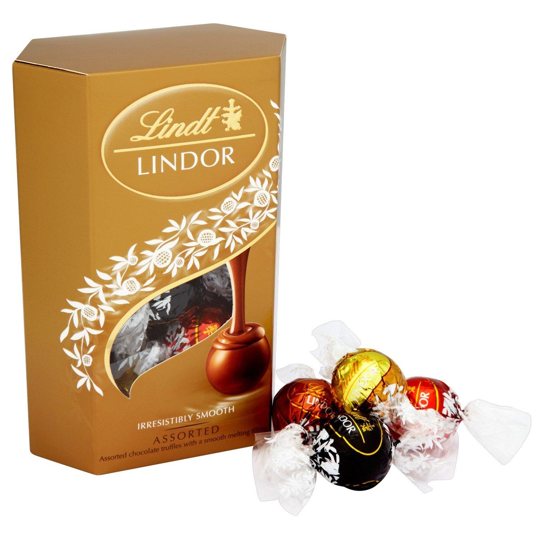 Amazon.com : Lindor Lindt Assorted Chocolate Cornet 200 G ...