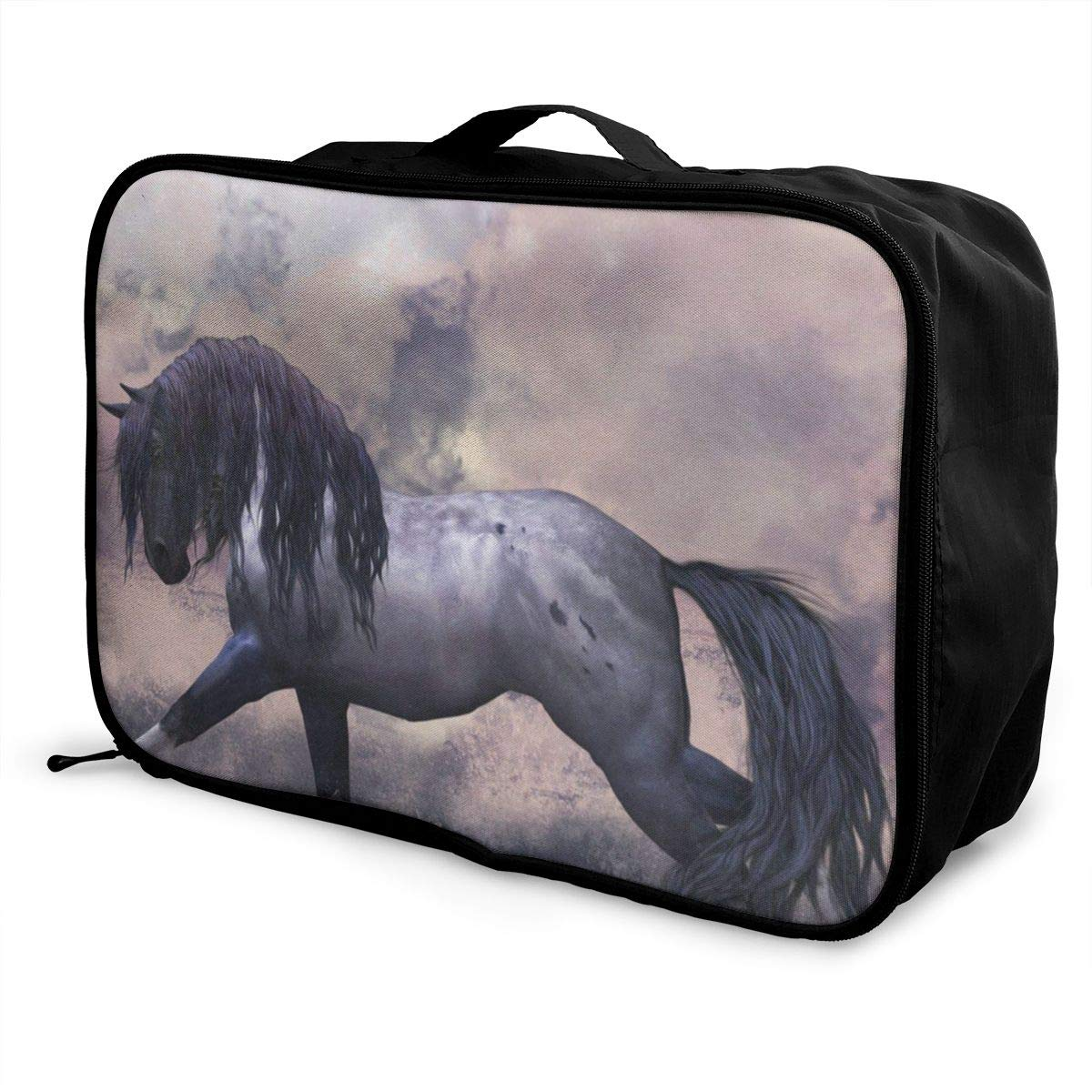 Sports Camping Travel Luggage Nylon Galaxy Nebula Solar System Planet Hanging Bag Tote Bags